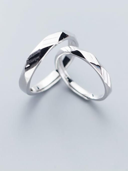 Rosh 925 Sterling Silver  Minimalist Round Free Size Ring