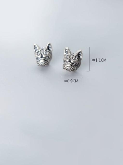 Rosh 925 Sterling Silver Lion Vintage Stud Earring 3