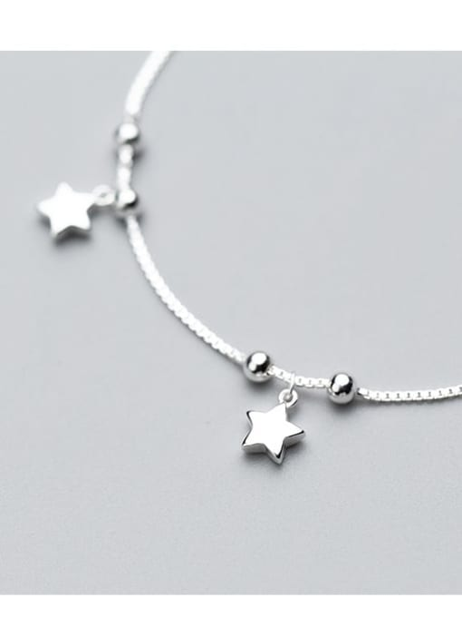 Rosh 925 Sterling Silver  Minimalist Star Link Bracelet 2