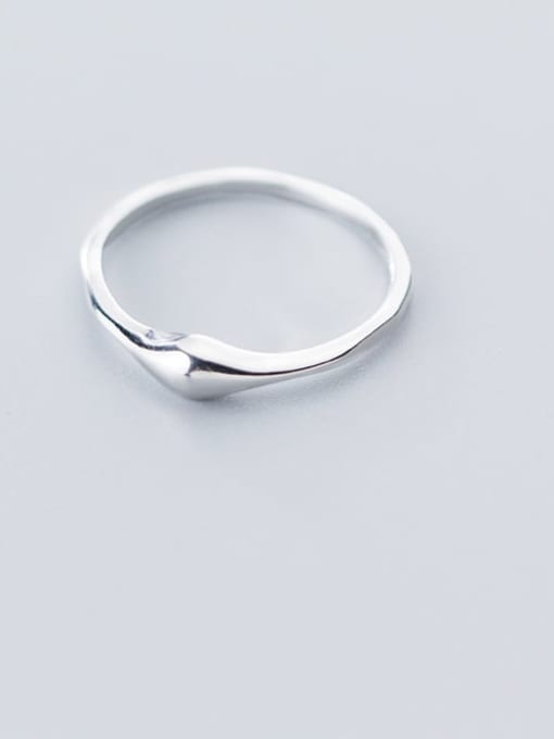 Rosh 925 Sterling Silver Minimalist Irregular Smooth Free Size Ring