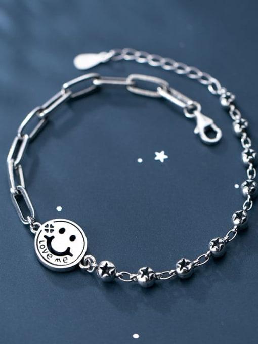 Rosh 925 Sterling Silver Face Minimalist Strand Bracelet 4