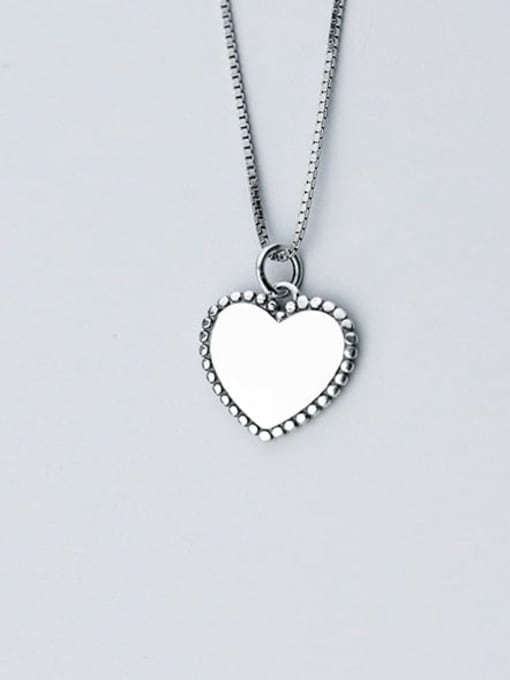 Rosh Heart 925 Sterling Silver Vintage Heart shaped Pendant