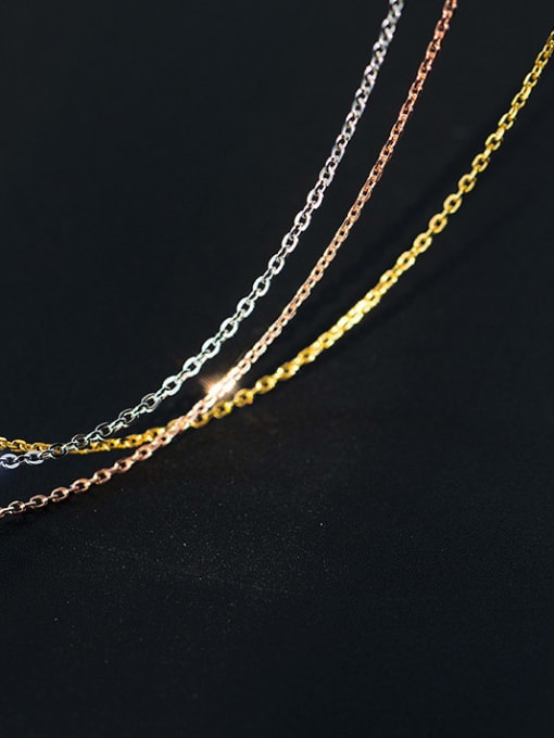 Rosh 925 Sterling Silver Minimalist Cable Chain 0