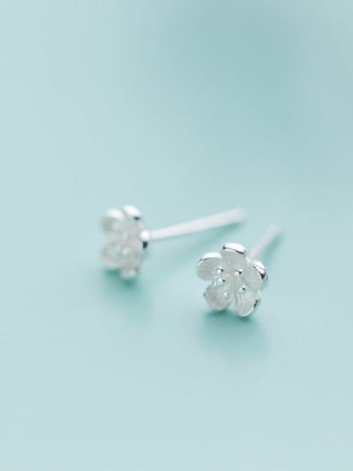 Rosh 925 Sterling Silver  Cute Flower Stud Earring 0