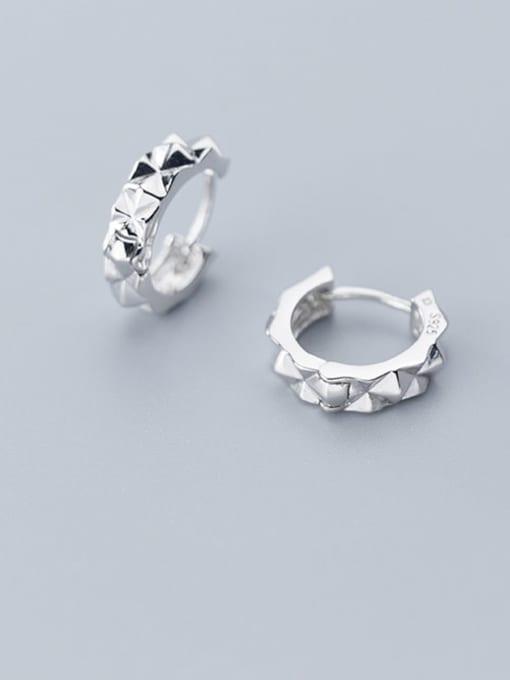 Rosh 925 Sterling Silver Round Minimalist Stud Earring
