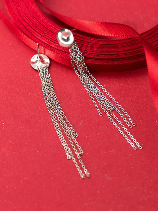 Rosh 925 Sterling Silver Tassel Vintage Stud Earring 0