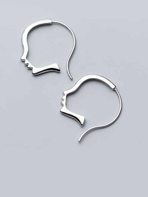 Rosh 925 sterling silver irregular minimalist stud earring 0