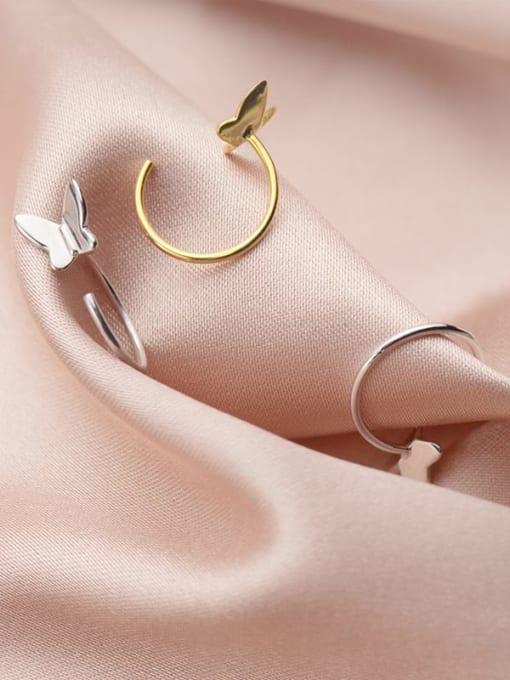 Rosh 925 Sterling Silver Butterfly Minimalist Huggie Earring