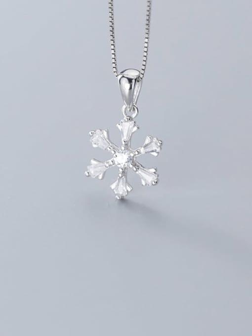 Rosh 925 Sterling Silver Snowflake Diamond Pendant  (no chain) 3