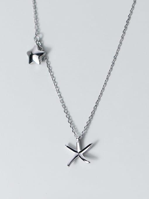 Rosh 925 Sterling Silver  Minimalist   Star  Pendant Necklace 2