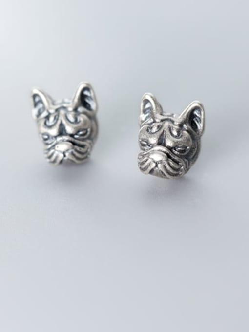 Rosh 925 Sterling Silver Lion Vintage Stud Earring