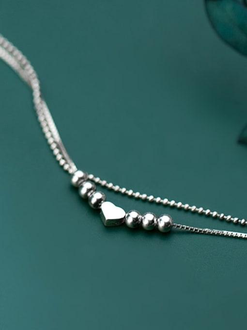 Rosh 925 Sterling Silver Smooth Heart Minimalist Strand Bracelet 1
