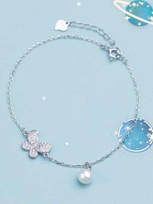 Rosh 925 Sterling Silver  Minimalist Butterfly  Link Bracelet 1