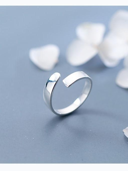 Rosh 925 Sterling Silver Simple Irregular Minimalist Band Ring