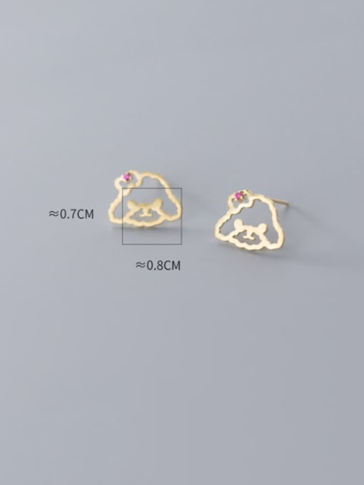 Rosh 925 Sterling Silver Hollow Irregular Minimalist Stud Earring 3