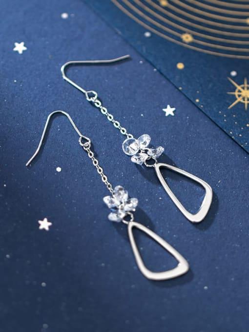 Rosh 925 Sterling Silver Triangle Minimalist Hook Earring 3