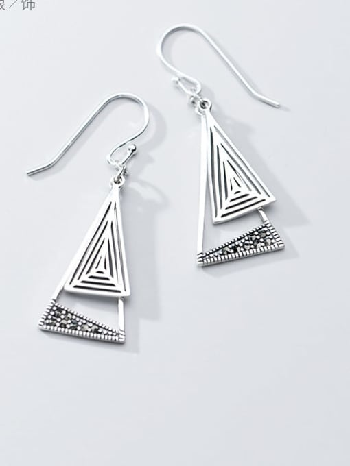 Rosh 925 Sterling Silver Triangle Vintage Hook Earring 1