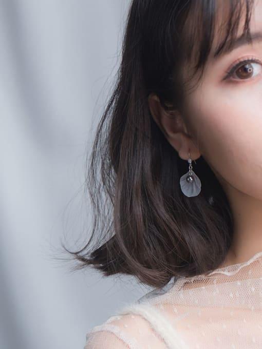 Rosh 925 Sterling Silver Acrylic Flower Minimalist Hook Earring 1