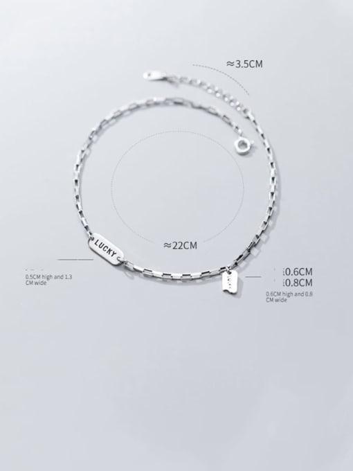 Rosh 925 Sterling Silver  Minimalist  Letter  Anklet 2