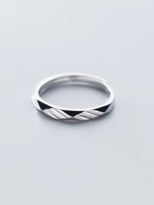 Rosh 925 Sterling Silver  Minimalist Round Free Size Ring 2