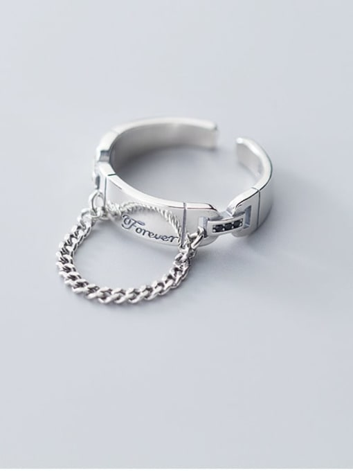 Rosh 925 Sterling Silver Round Vintage Free Size Band Ring 1