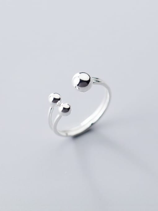 Rosh 925 sterling silver bead  ball minimalist free size ring