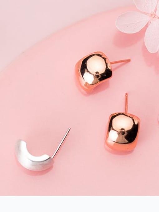 Rosh 925 Sterling Silver  Fashionable simple thumb shape earrings Stud Earring 1