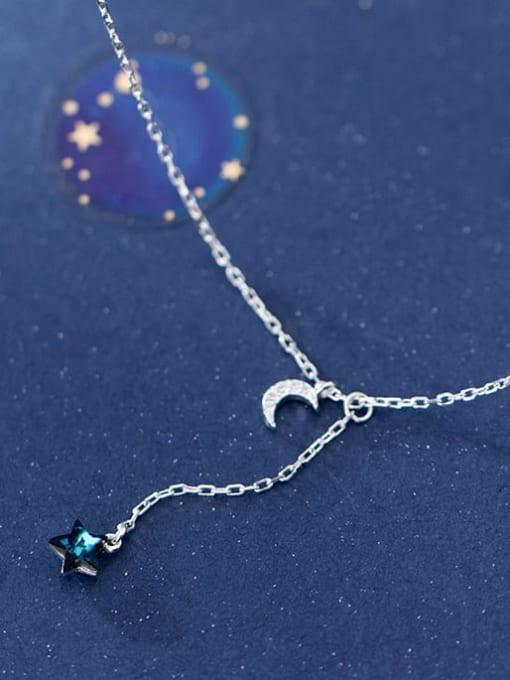 Rosh 925 Sterling Silver Rhinestone  Star Minimalist Lariat Necklace 2