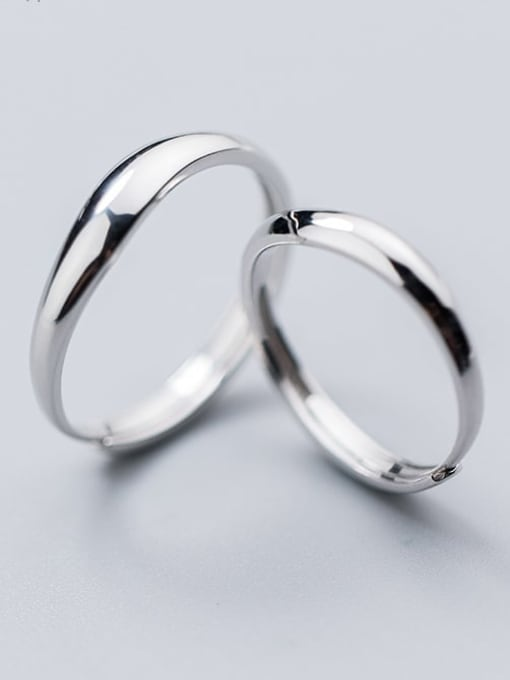 Rosh 925 Sterling Silver Smooth Round Minimalist Free Size Ring 1