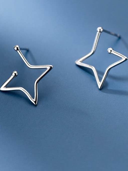Rosh 925 Sterling Silver Star Minimalist Stud Earring 2