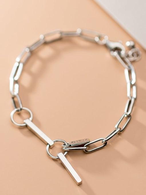 Rosh 925 Sterling Silver  Vintage Hollow Chain Link Bracelet 4