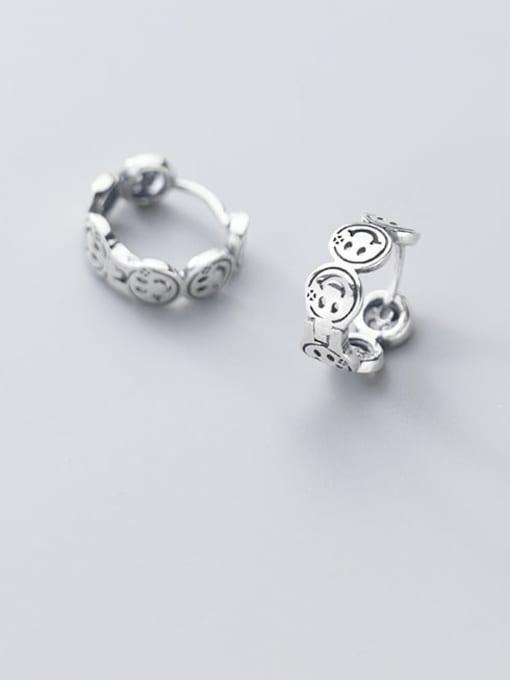 Rosh 925 Sterling Silver Face Vintage Stud Earring