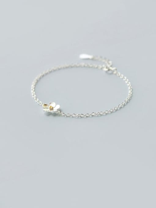 Bracelet 925 Sterling Silver Flower Minimalist Necklace