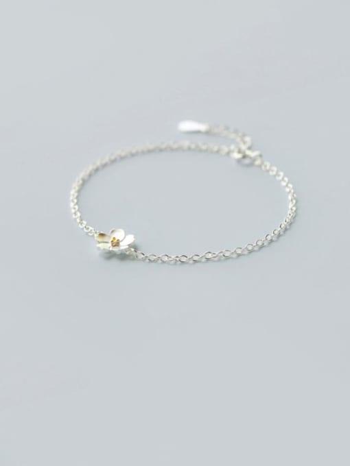 Rosh 925 Sterling Silver Flower Minimalist Necklace 1