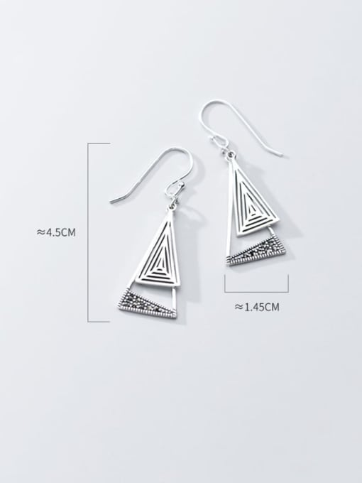 Rosh 925 Sterling Silver Triangle Vintage Hook Earring 2
