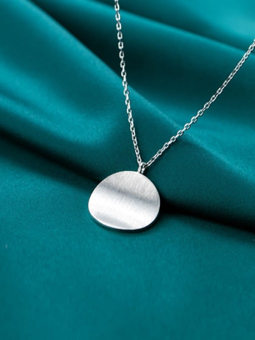 Rosh 925 Sterling Silver  Minimalist Round Pendant Necklace