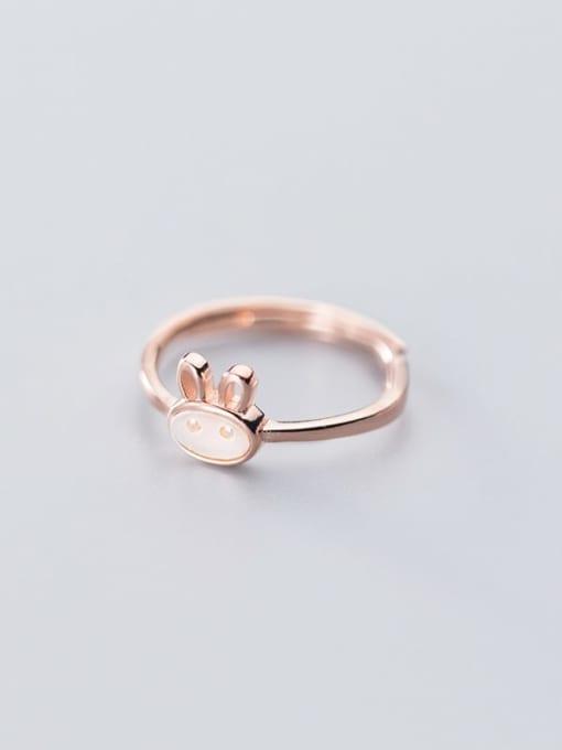 Rosh 925 Sterling Silver  Cute  Fashion cute shell rabbit free size Ring 1