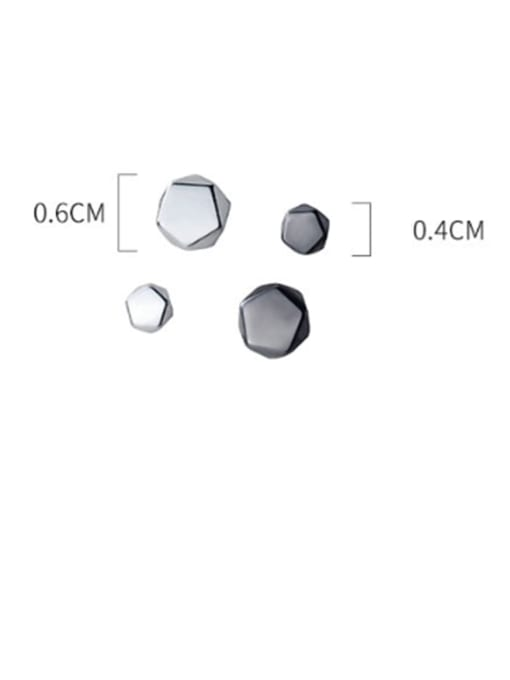 Rosh 925 Sterling Silver Hexagon Minimalist Stud Earring 4