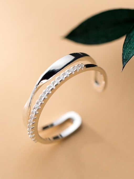 Rosh 925 Sterling Silver Irregular Minimalist Stackable Ring 2