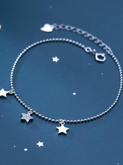 Rosh 925 sterling silver star minimalist beaded bracelet