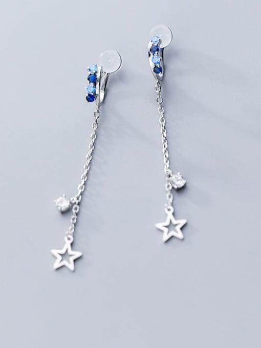 Rosh 925 Sterling Silver Tassel Minimalist Clip Earring