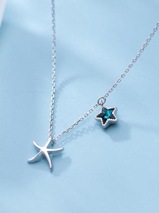 Rosh 925 Sterling Silver  Minimalist   Star  Pendant Necklace 0
