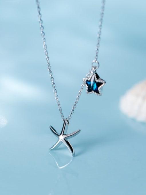 Rosh 925 Sterling Silver  Minimalist   Star  Pendant Necklace 1