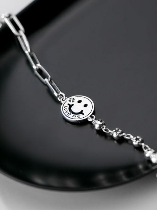 Rosh 925 Sterling Silver Face Minimalist Strand Bracelet 3