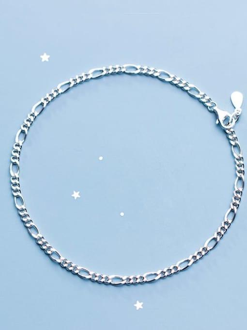 Rosh 925 Sterling Silver Minimalist Fashion wave thick chain geometric bracelet