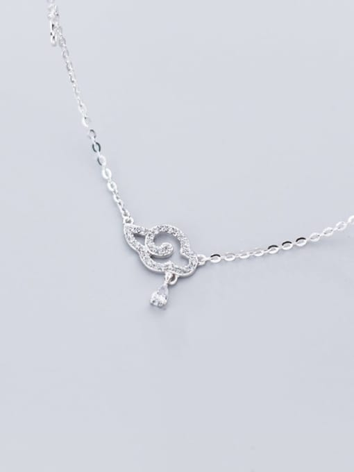 Rosh 925 Sterling Silver Rhinestone Diamond clouds  Necklace 2