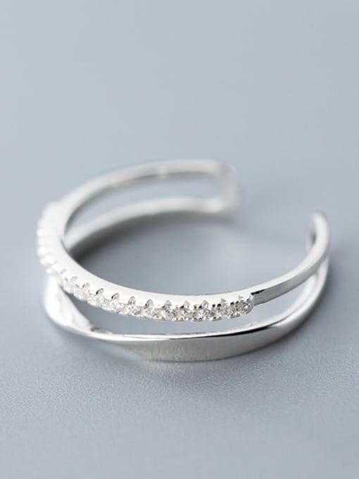 Rosh 925 Sterling Silver Irregular Minimalist Stackable Ring 1