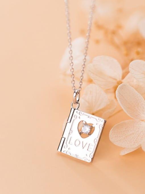 Rosh 925 Sterling Silver  Minimalist Clover  Square pendant Necklace 2