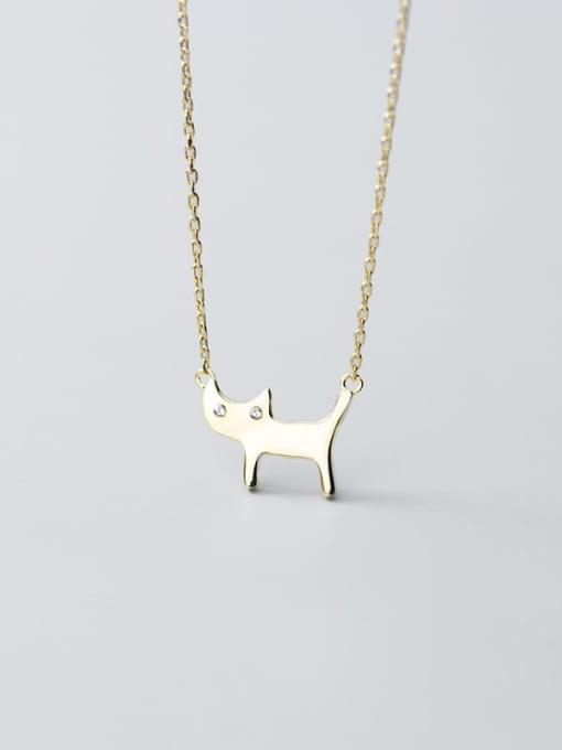 Rosh 925 Sterling Silver Cute Diamond cat  Pendant  Necklace 2