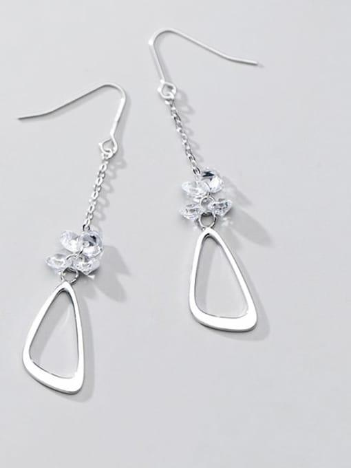 Rosh 925 Sterling Silver Triangle Minimalist Hook Earring 1